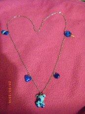 Collana orsetto azzurro