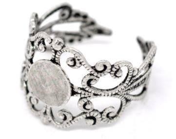 Base per anello silver tone