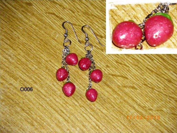 Orecchini fragoline