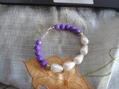 """bracciale """"Purple & White"""""""