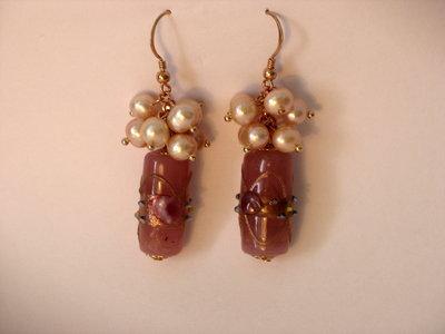 orecchini rosa murano