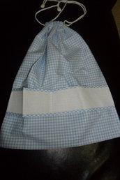 sacchetto nascita azzurro