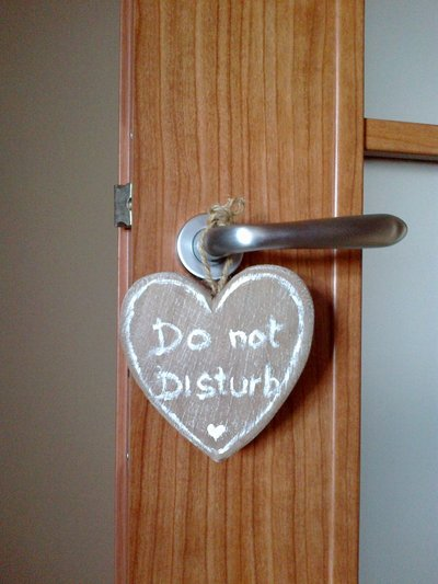 "Cuore double face ""Do not disturb"""