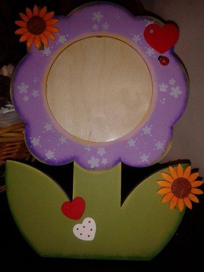 porta foto fiore tre