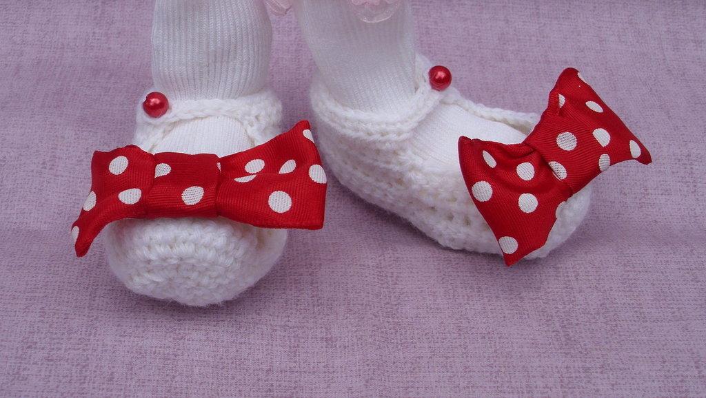 Ballerine per neonato (pois rossi)