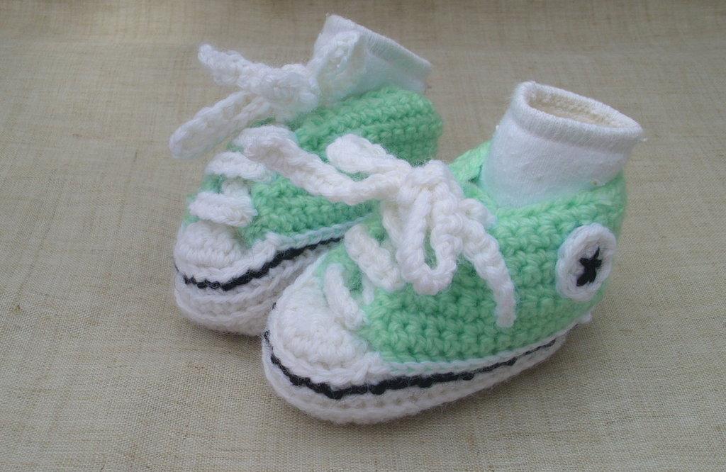 Scarpine neonato (verde acqua marina)