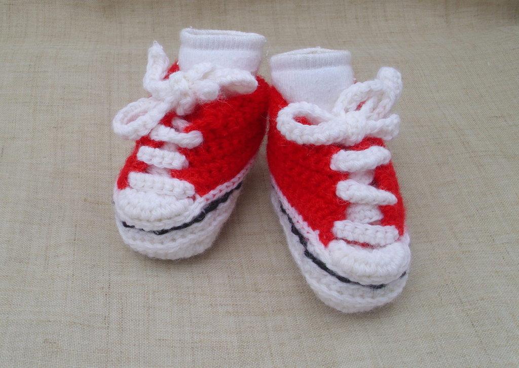 Scarpine neonato (rosso)