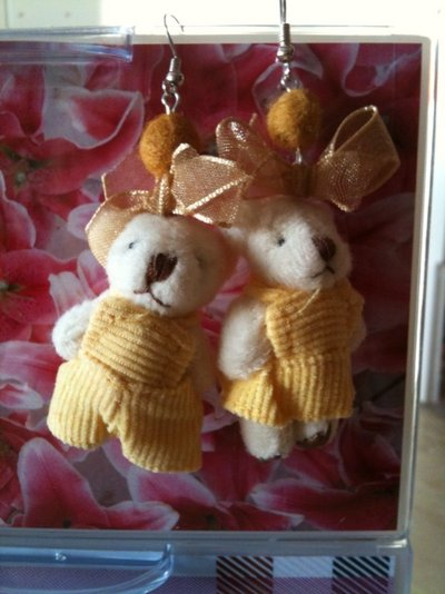 Orecchini mini orsetti peluches