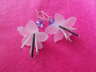 orecchini fiore e cristallo