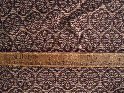 Taglio scampolo stoffa lana motivi marroni rotondi vintage anni 70