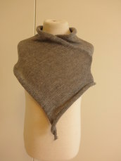 Baby poncho grigio,misto lana,abbigliamento bambina,2 anni