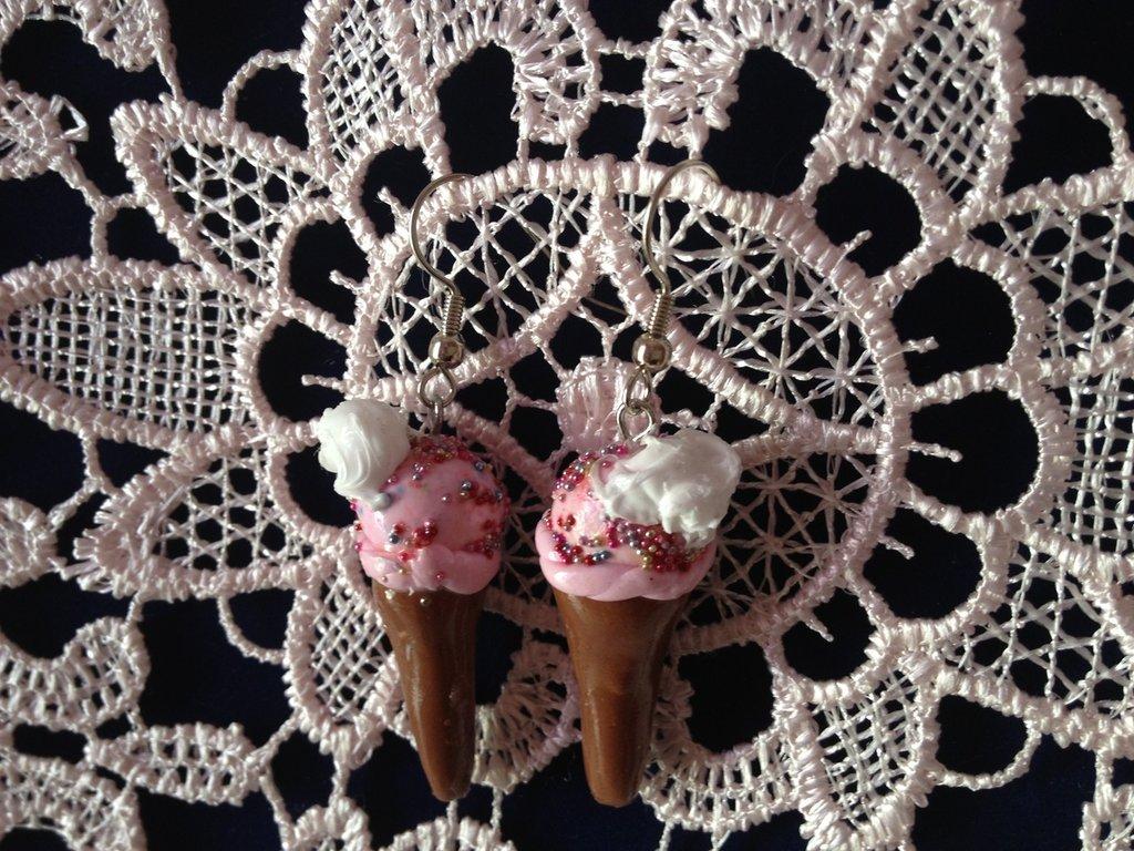 orecchini gelato con panna