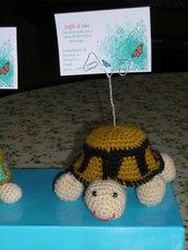 Tartaruga amigurumi porta foto