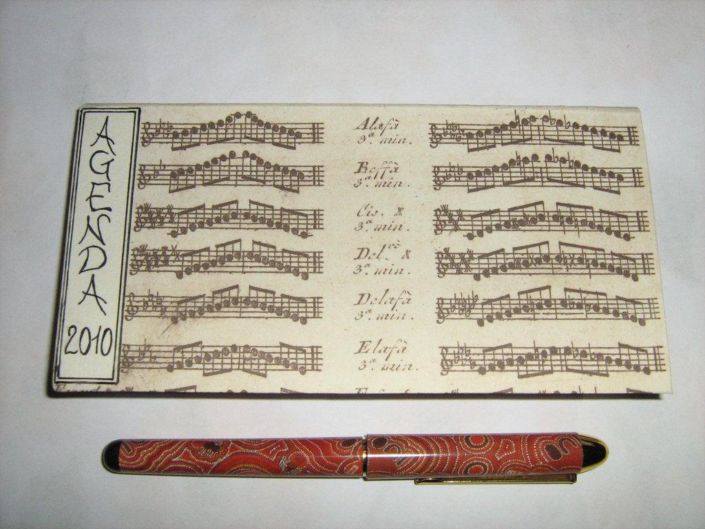 """agenda orizzontale """"musica"""""""
