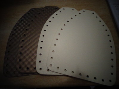 Set laterali bauletto ecopelle optical e bianco