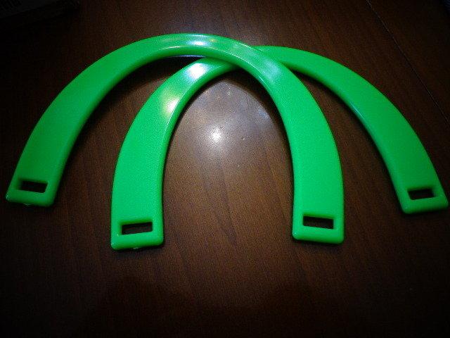 Manici resina verde fluo per borse