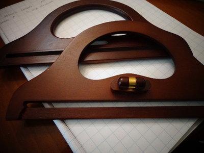 Manici in legno con chiusura per borse