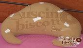 Cuscino Biscotto - Cornetto Cioccolata Bianca (Quello originale)