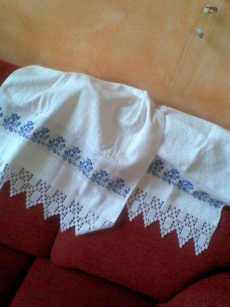 Asciugamani con rose blu