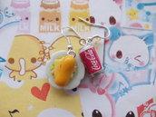 Orecchini panino + lattina coca cola
