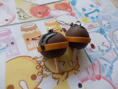 Orecchini chupa chupa al cioccolato