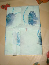 """quaderno cucito a mano """"fiori blu"""""""