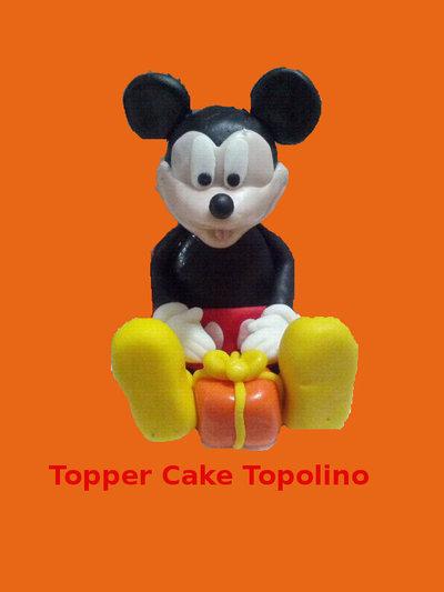 Topper Cake in Pasta di Zuccchero realizzato a mano