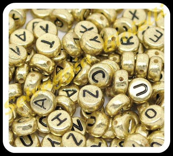Confezione da 500 perline tonde per comporre nomi o parole