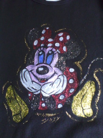 Maglietta glitterata  topolina spiritosa