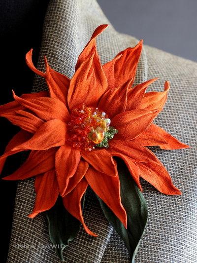 "fiore in pelle ""Giorgina"""