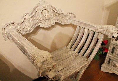 Sedie Shabby Chic Vendita : Quattro sedie campagnole impagliate laccate shabby chic