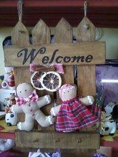 "targa ""welcome"" natalizia"