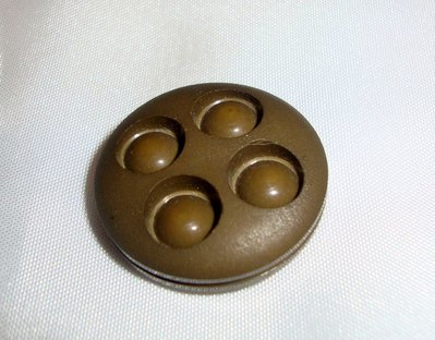 anello bottone marrone!