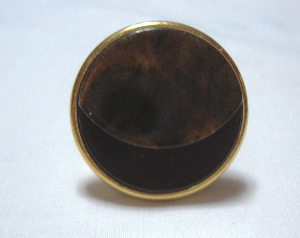 anello bottone marrone!