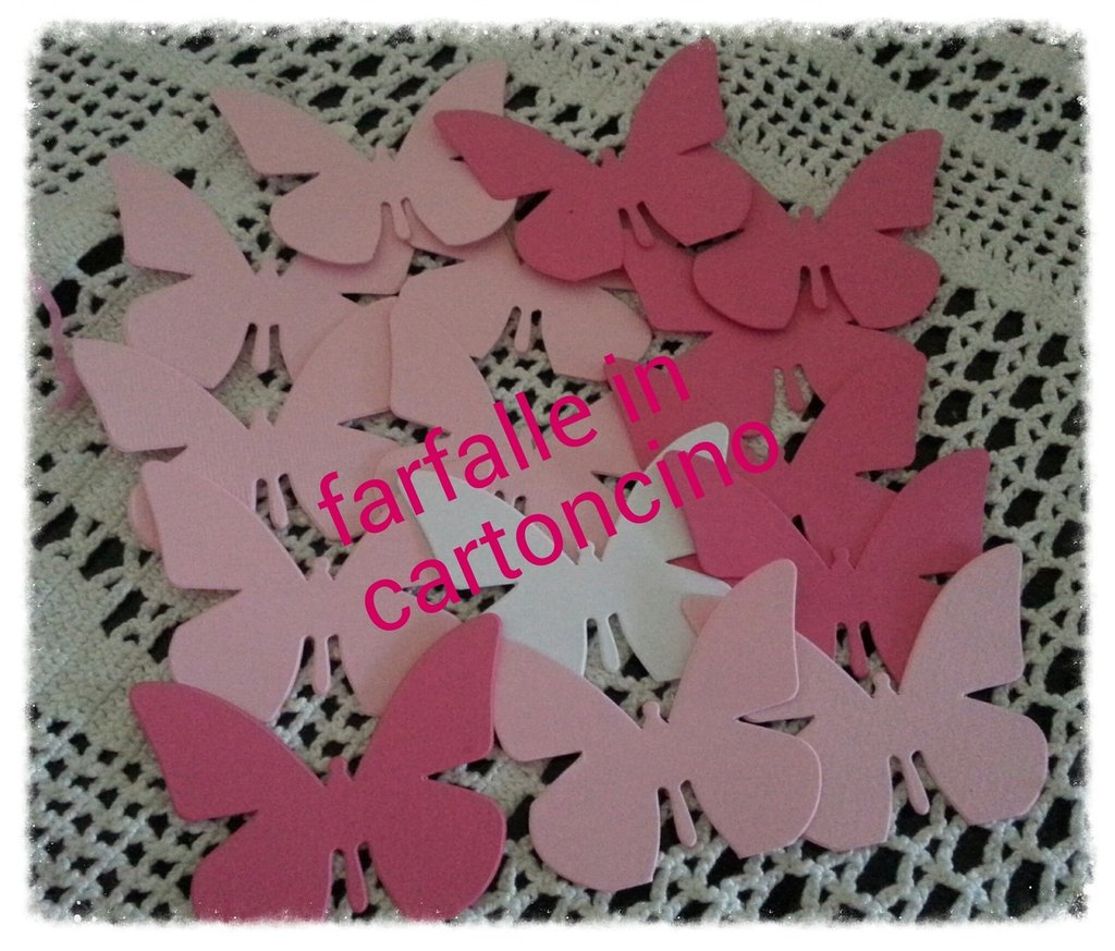 150 farfalle fustellate