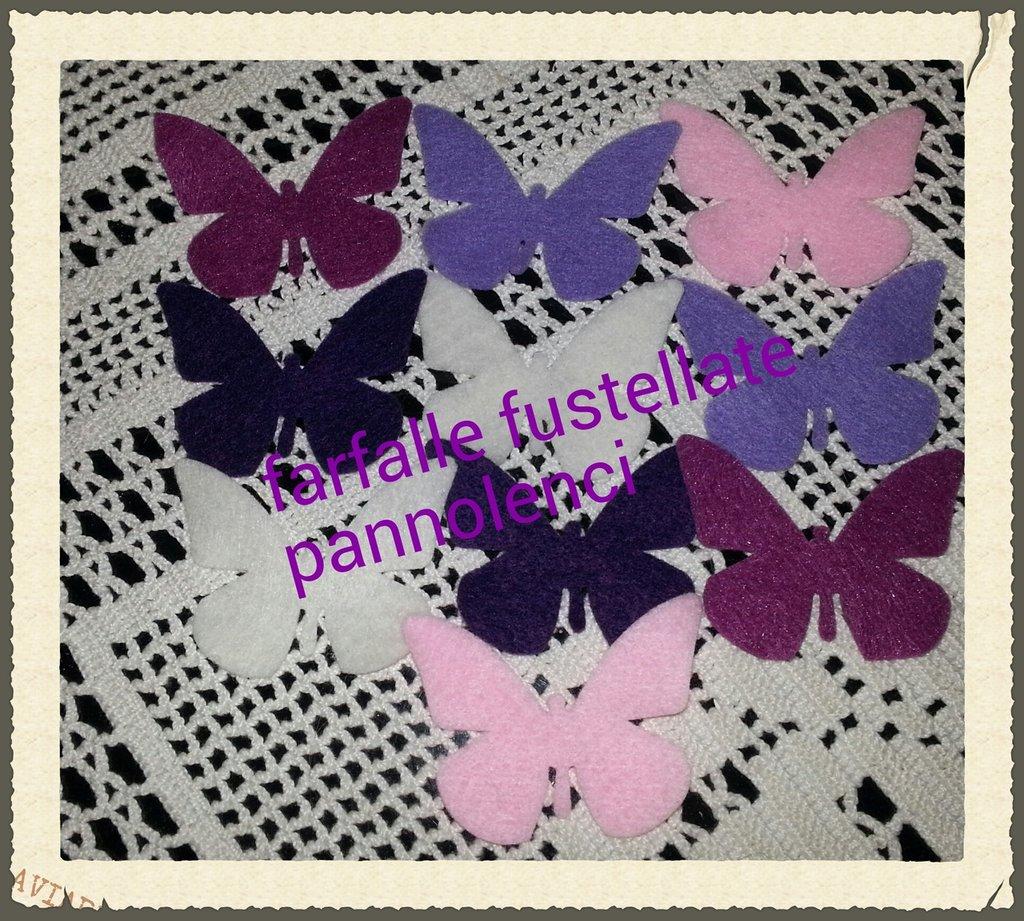 10 farfalle fustellate pannolenci