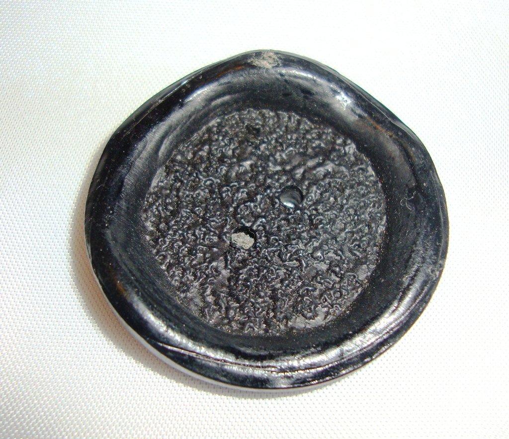 anello bottone nero satinato!!