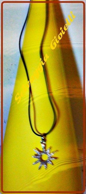Collana con pendente sole argento