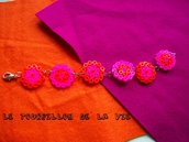 Bracciale Hama Beads Estivo Fuxia e Arancione