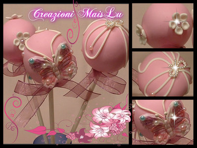 Cake Pops decorativi in pasta di mais