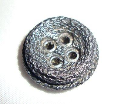 anello  bottone grigio satinato!