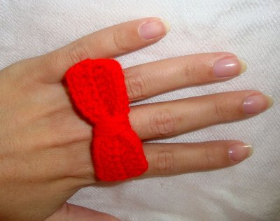 anello fiocco uncinetto!!