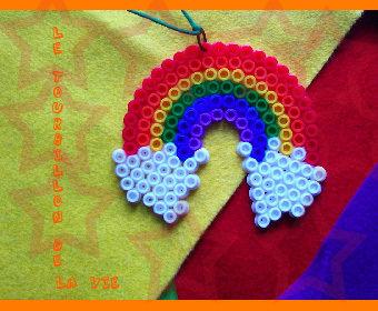 Ciondolo Hama Beads Arcobaleno