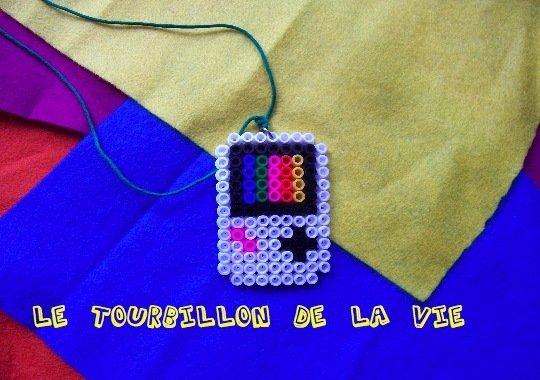 Ciondolo Vintage Game Boy - Pendant handmade hama beads