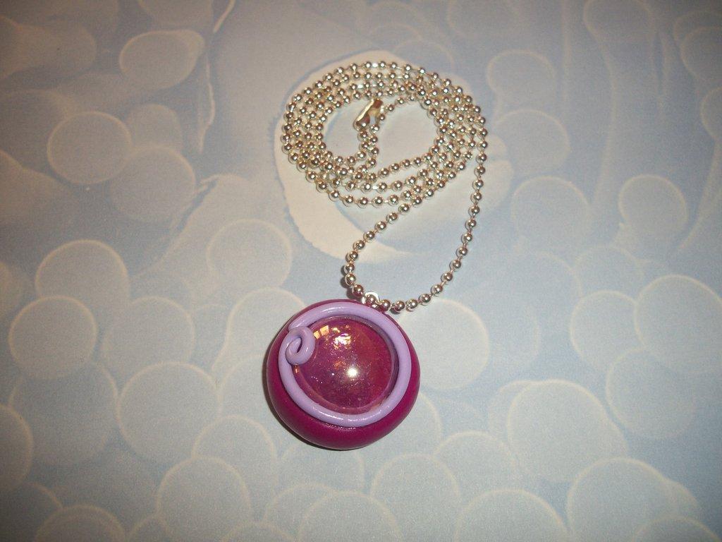 ciondolo - perla di vetro