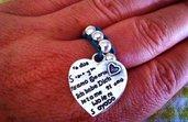 annello con perline e charms