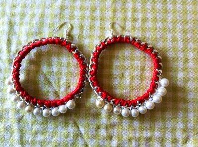 orecchini in catena