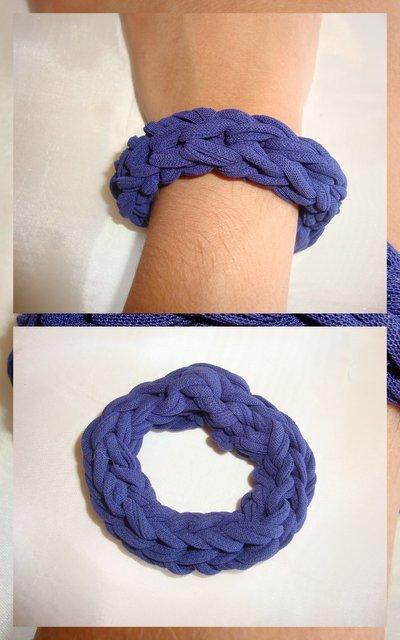 bracciale fettuccia blu!!