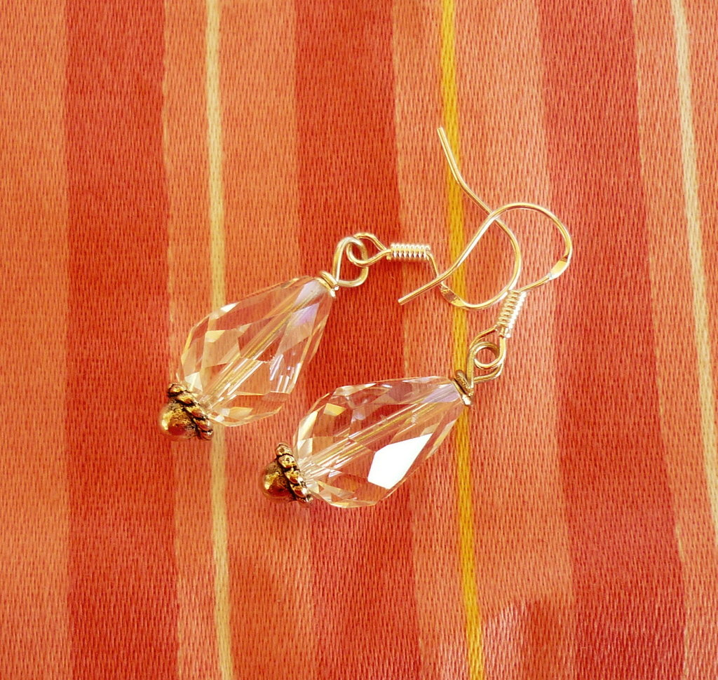 orecchini cristallo a goccia