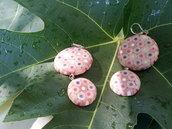 Orecchini pendenti fatti a mano tondi